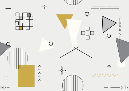 Abstract seamless geometric background - vector illustration Illustration