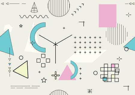 Abstract seamless geometric background - vector illustration 矢量图像