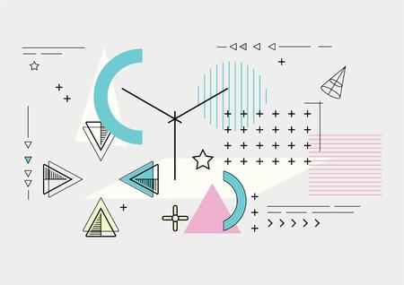 Abstract modern geometric composition 矢量图像