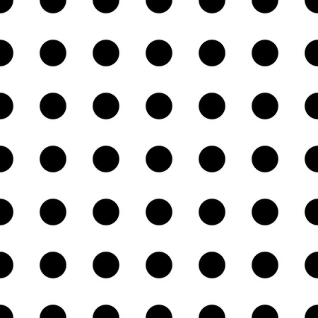 Big dot seamless pattern. Abstract fashion black and white texture. Graphic style for wallpaper, wrapping, fabric, background, apparel, print production.