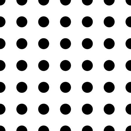 Groot punt naadloos patroon. Abstracte mode zwart-witte textuur. Grafische stijl voor behang, verpakking, stof, achtergrond, kleding, printproductie. Stock Illustratie