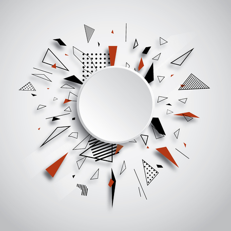 Abstract vector geometrical background banner copy space 矢量图像