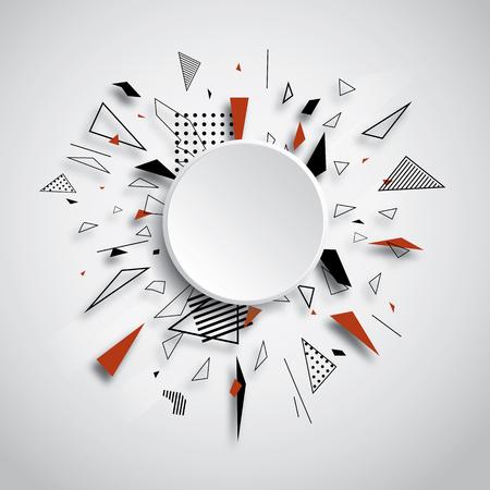 De abstracte vector geometrische ruimte van het achtergrondbannerexemplaar