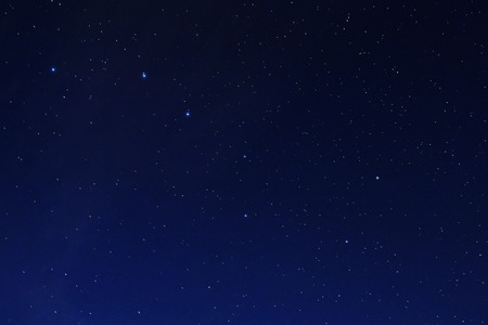 Stars on a dark blue sky at night. Great Bear constellation.