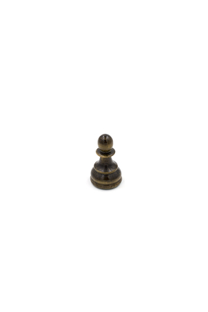 Black wooden pawn chess figure