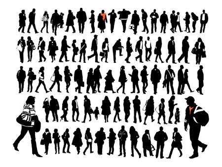 kind silhouet: Mensen