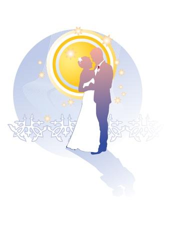 Couple, for wedding card  Illustration