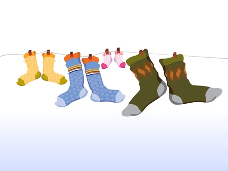 hosiery: Family socks
