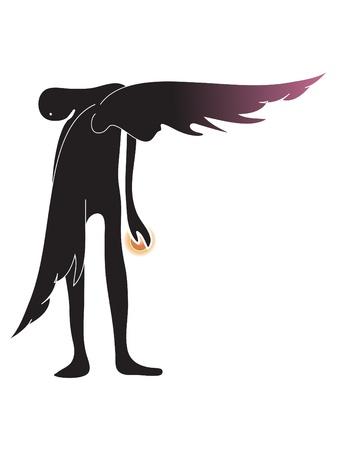 angel and light  Illustration