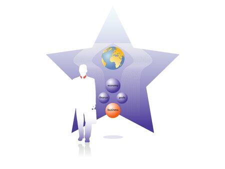 business star Illustration