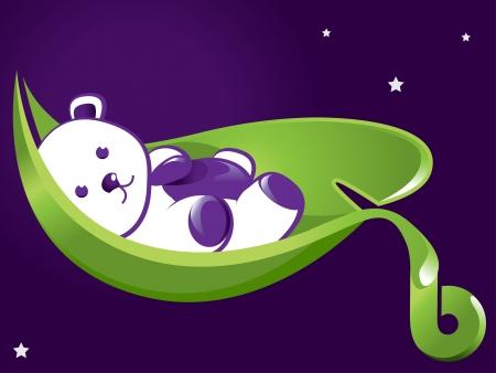Sleeping Teddy  Illustration