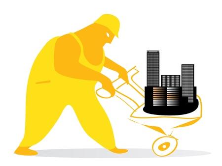 edifice: city worker  Illustration