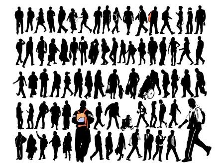 gehhilfe: Menschen Illustration