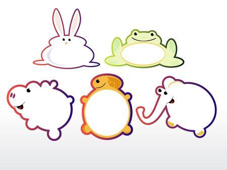 animals stickers Stock Vector - 16188654