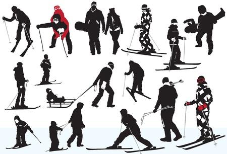 winter fun: winterpret Stock Illustratie