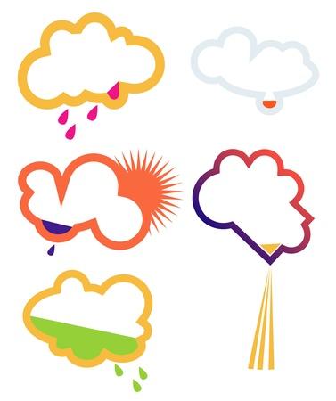 nebulosidade: Nuvens, sinais Ilustração