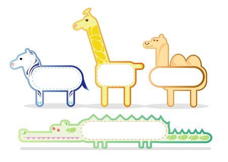 wild animals, stickers