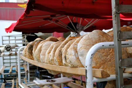 Fresh bread at Belgian market