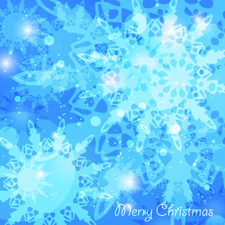 Christmas abstract blue background holiday greeting card Vector