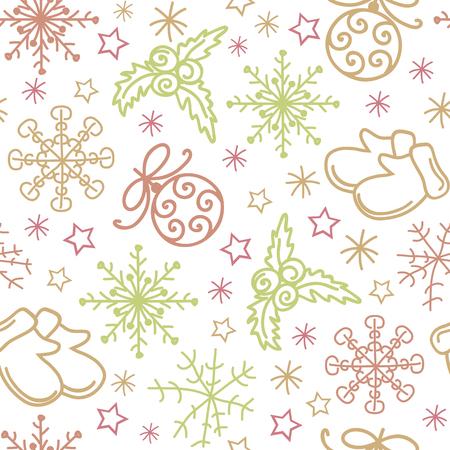 christmas seamless pattern: Christmas seamless pattern elements Illustration