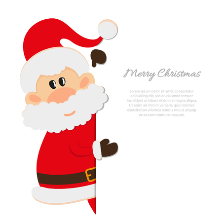 cartoon new year: Postcard Santa Claus with space for text