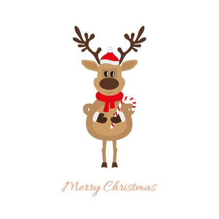 Rendier van Kerstmis met karamel riet
