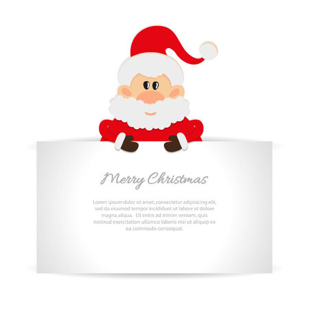 one year old: Santa Claus Greeting card with space for text Illustration