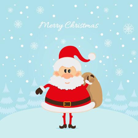 one year old: Tarjeta de Santa Claus La Navidad Vectores