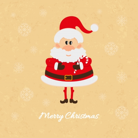 oldman: Santa Claus with Christmas candy cane card