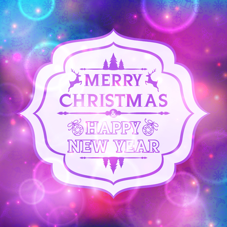 Abstract greeting with Christmas and New Year Vector