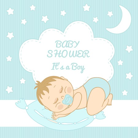 Baby Shower Itu0027s A Boy Congratulations On The Birth Of A Boy Stock Vector    26078527
