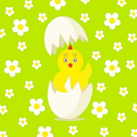 cute chick and egg