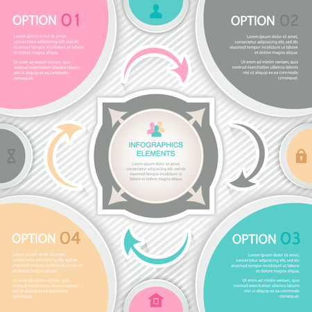 Abstract elements of infographics for business presentations Vector