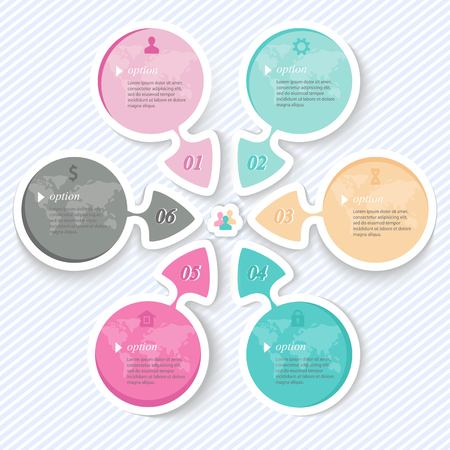 Elements for infographics, abstract arrows for business presentations Vector