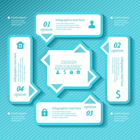 Design business infographics four successive options. Vector illustration. Vector
