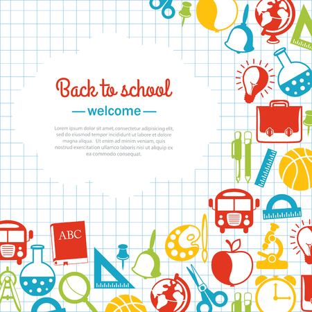 back to school background for school with space for text Vector