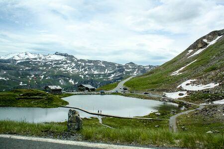 austrian: Beautiful mountain lake in the Austrian Alps