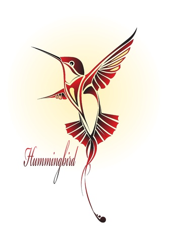hummingbird: image of a hummingbird colored birds