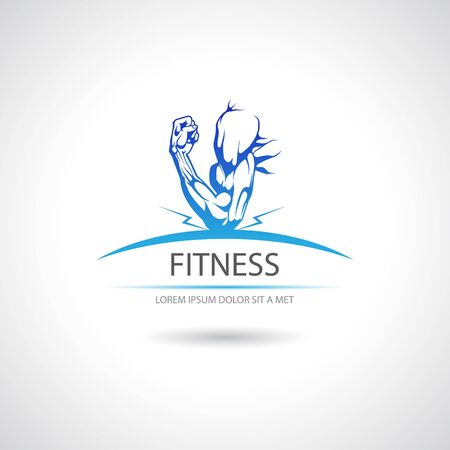 The vector image Label fitness