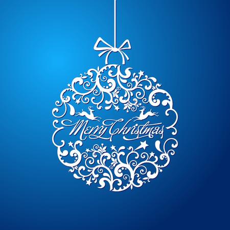 De vector afbeelding kerstbal, kerstboomversiering. vector Stock Illustratie