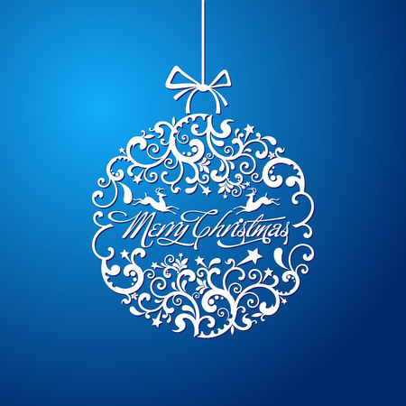 glitter ball: The vector image Christmas ball, Christmas tree decorations. vector
