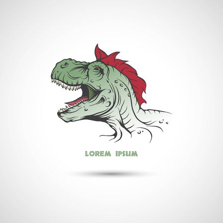 speculative: The vector image  Dinosaur head. Vector illustration.