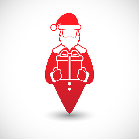 image icon: The vector image Icon with Santa Claus. Vector. Illustration
