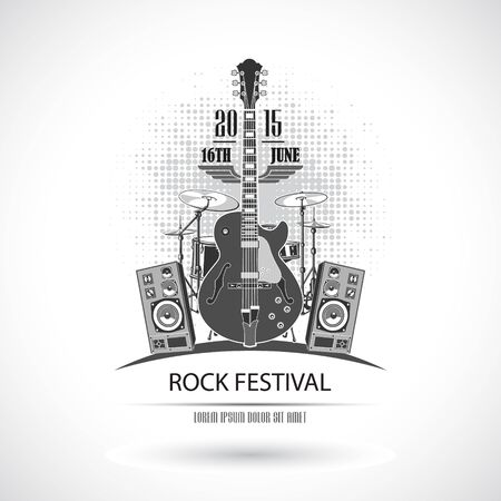peace stamp: The vector image Rock Festival Stamp