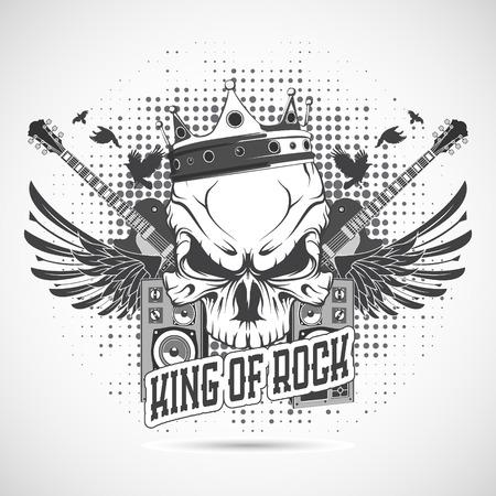 rock n roll: The vector image Rock n roll symbol
