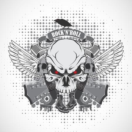 rock 'n ' roll: The vector image Rock n roll symbol