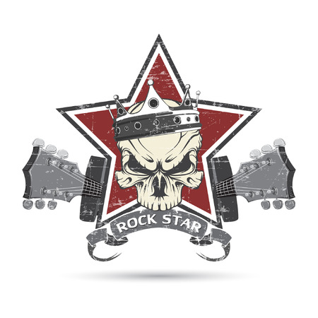 The vector image Rock n roll symbol