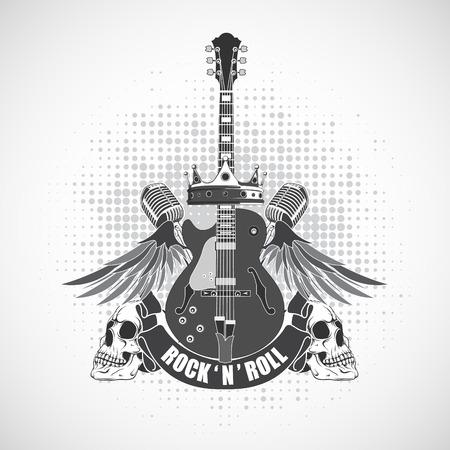 La imagen vectorial Rock n símbolo rollo Foto de archivo - 37494601