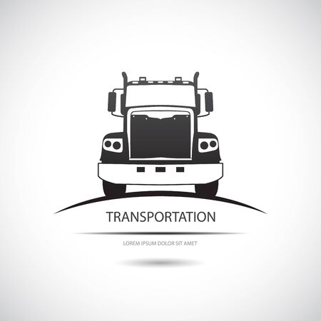 fuel truck: The vector image Truck icon. Vector. Illustration