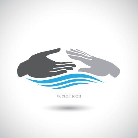 ballen: Die Vektor-Bild Vektor-Icons von Handgesten. Illustration